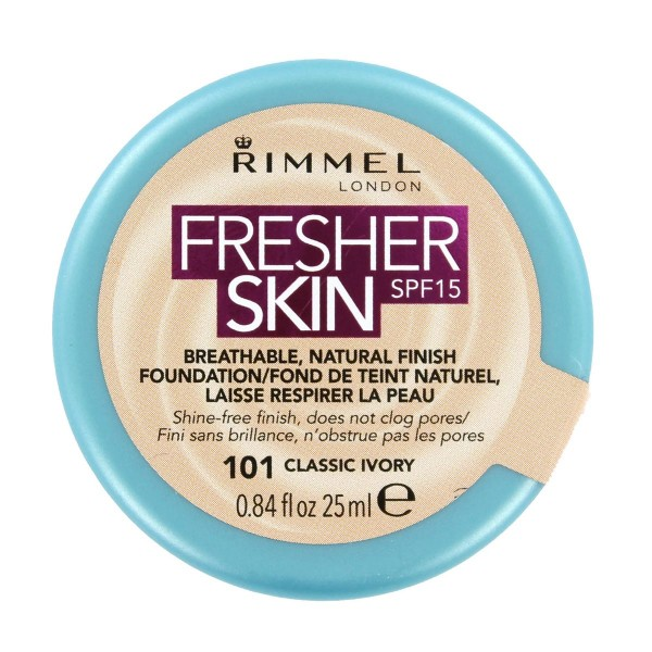 Rimmel fresher skin spf15 natural foundation 101 classic ivory