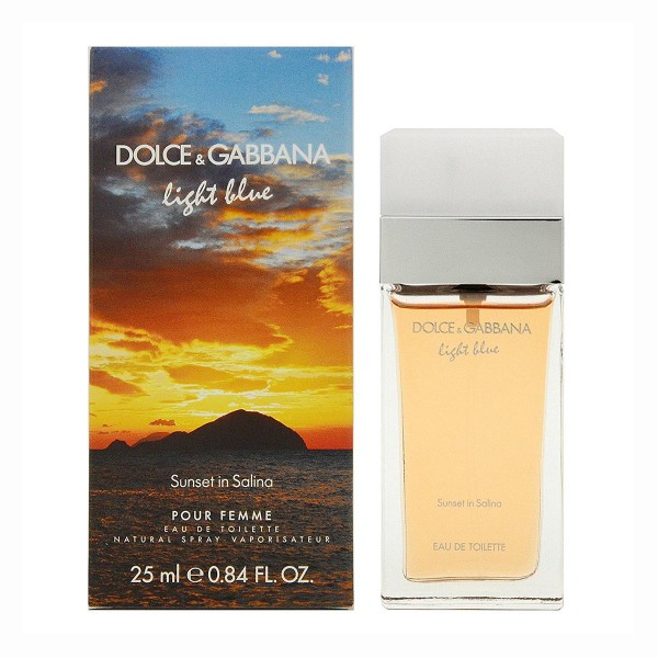 Dolce & gabbana light blue sunset in salina eau de toilette pour femme 25ml vaporizador