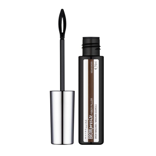 Maybelline brow precise fiber filler mascara de pestañas 05 medium brown