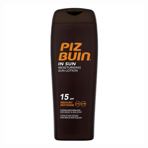 Piz buin in sun moisturizing locion solar spf15 medium 200ml