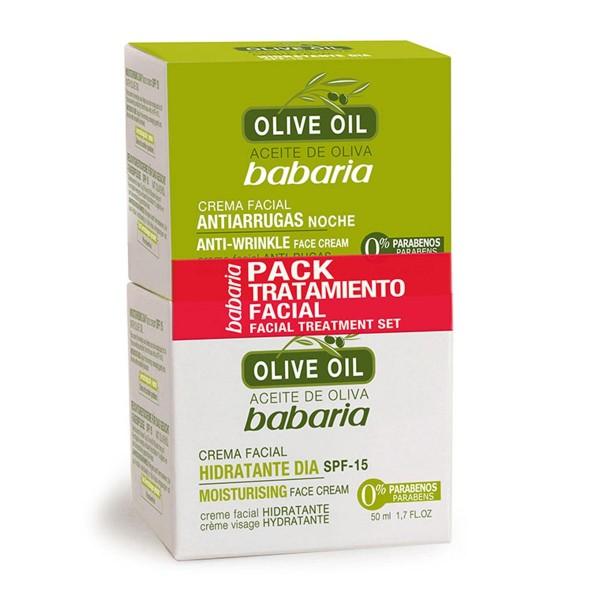 Babaria olive oil crema de noche 100ml + crema de dia 50ml