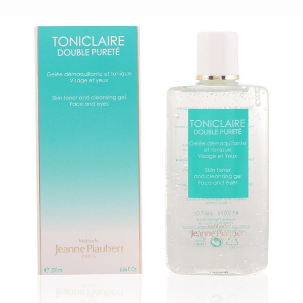 Jeanne piaubert toniclaire cleansing gel double purete face and eyes 200ml