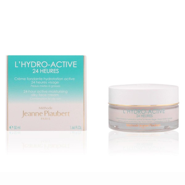 Jeanne piaubert l'hydro-active 24h moisturizing silky face cream combination to oily skin 50ml