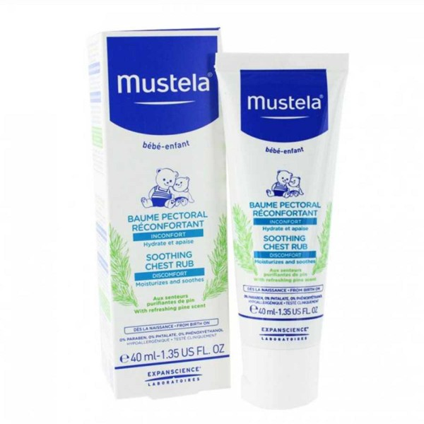 Mustela bebe soothing chest rub 40ml