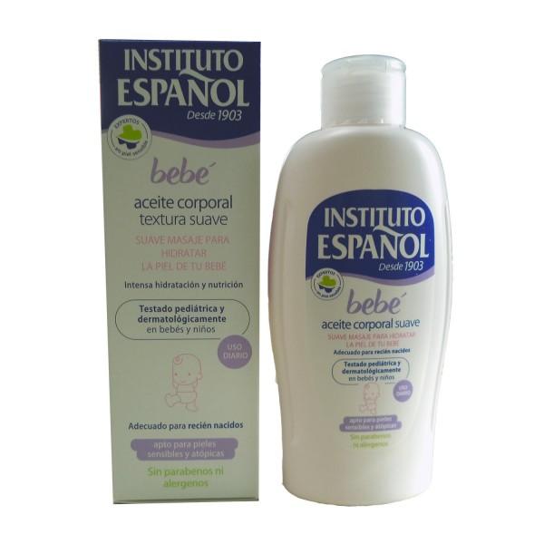 Instituto español bebe aceite corporal aceite corporal suave piel sensible sin alergenos 150ml