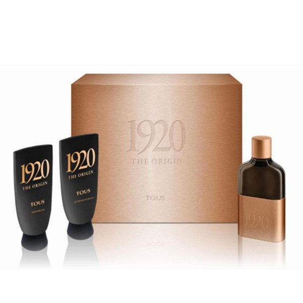 Tous 1920 eau de toilette 100ml vaporizador + after shave balm 100ml + shower gel 100ml