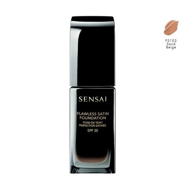 Kanebo flawless satin foundation fs103 sand beige 30ml