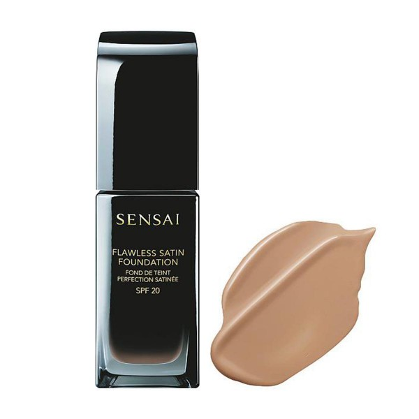 Kanebo flawless satin foundation fs203 neutral beige 30ml