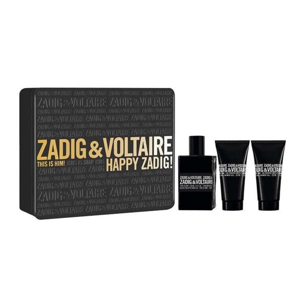 SET Zadig&voltaire this is him eau de toilette 50ml vaporizador + gel de baño 50ml + gel de baño 50ml
