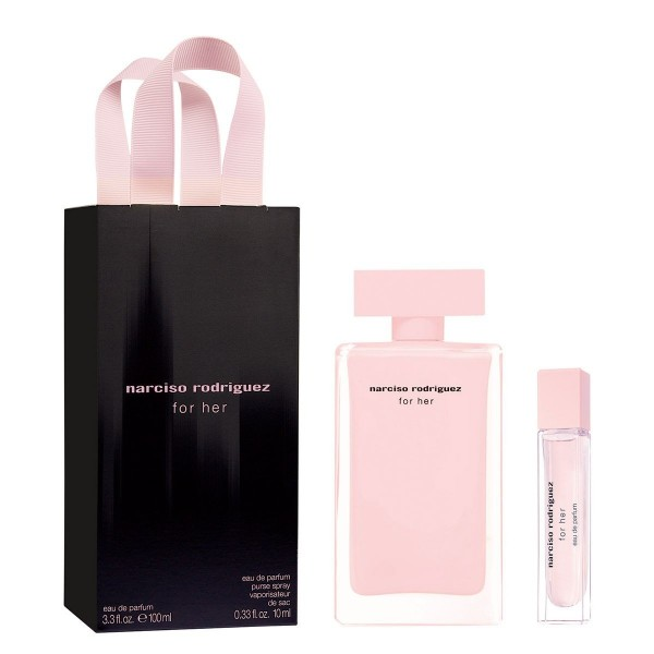 Narciso rodriguez for her eau de toilette 100ml vaporizador + eau de toilette purse spray 10ml vaporizador