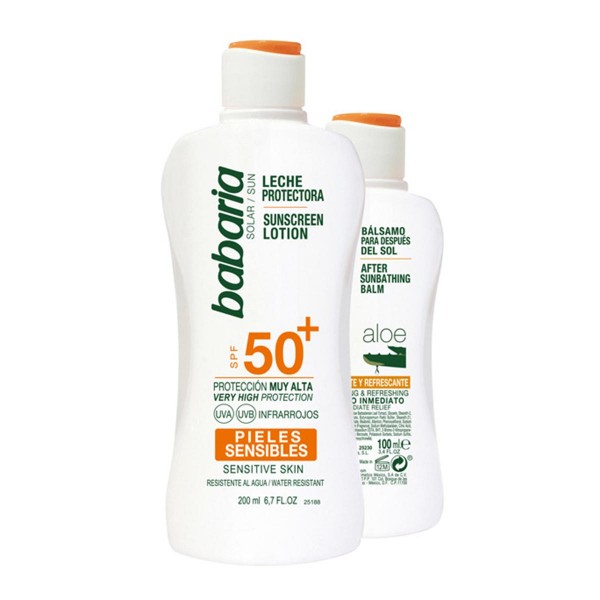 Babaria solar leche corporal piel sensible spf50+ 200ml + after sun aloe 100ml