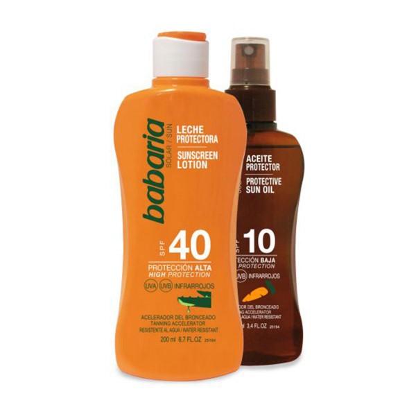 Babaria solar leche spf40 200ml + aceite zanahoria spf10 100ml