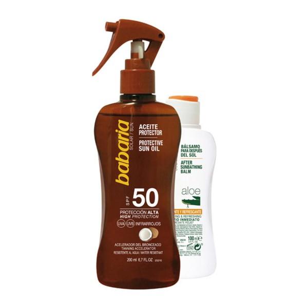 Babaria solar aceite coco spf50 200ml + after sun aloe 100ml