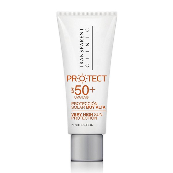 Transparent clinic protect protector solar spf50+ 75ml