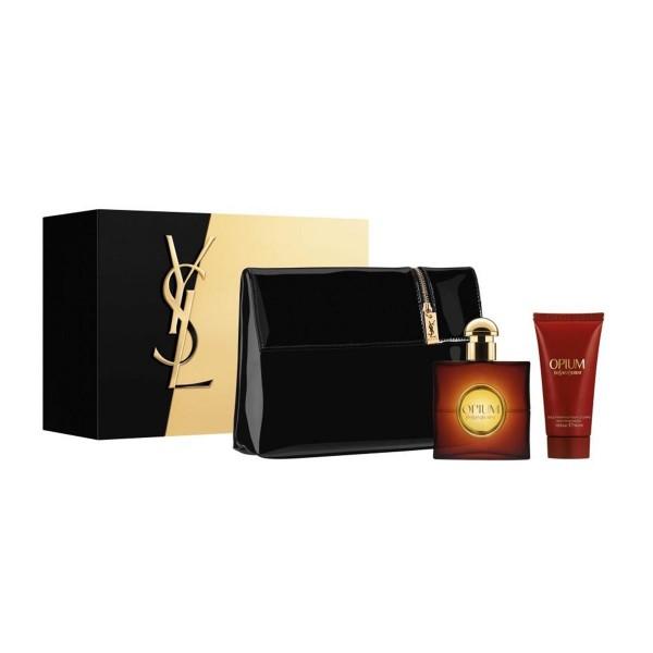 Yves saint laurent opium eau de toilette 50ml vaporizador + perfumed body lotion 50ml + neceser 1u