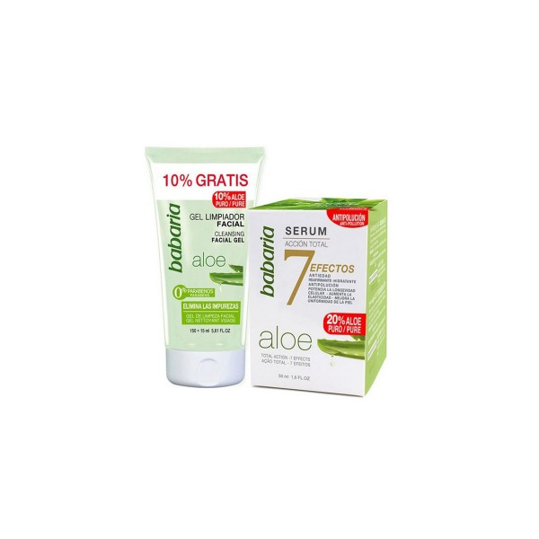 Babaria aloe vera serum 50ml + limpiador facial