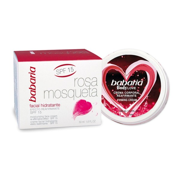 Babaria rosa mosqueta crema hidratante spf15 50ml + crema corporal bodylove 100ml