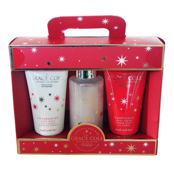 Grace cole fig&cranberry gel 100ml + crema corporal 100ml + esponja 1u