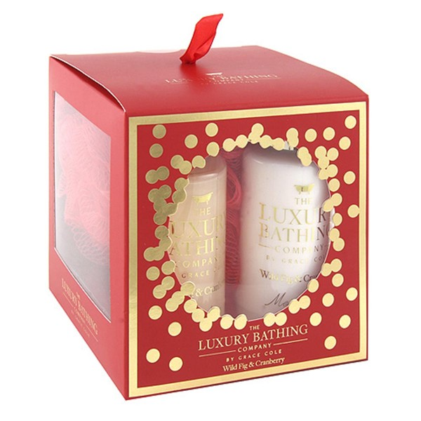 Grace cole fig&cranberry gel 100ml + crema corporal 100ml + esponja 1u