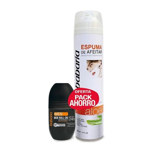 Babaria aloe espuma de afeitar + desodorante 50ml