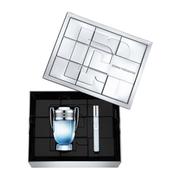 SET Paco rabanne invictus aqua eau de parfum 100ml vaporizador + miniatura