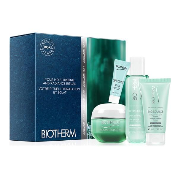 Biotherm aquasource gel piel normal a mixta 50ml + nettoyant 50ml + lotion 100ml + fresh eye cream 3ml