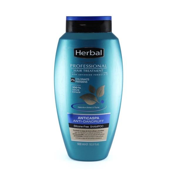 Herbal hispania professional care champu anti-caspa sin silicona 500ml