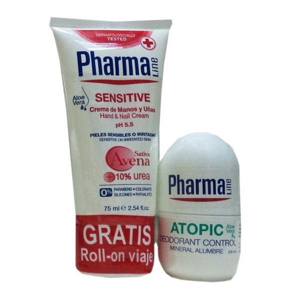 Pharmaline sensitive crema de manos 75ml + atopic desodorante control 25ml