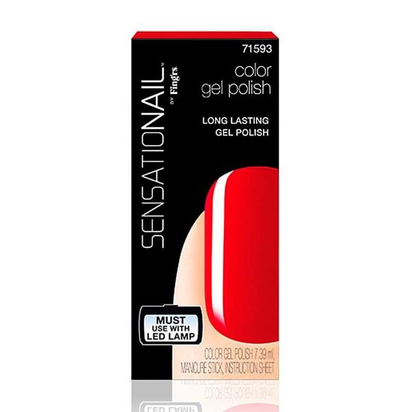 Sensationail sensationail laca de uñas scarlet red