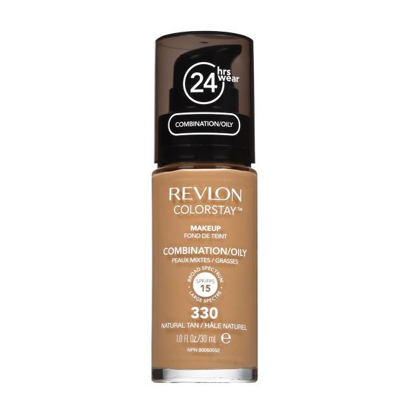 Revlon colorstay liquid oily fond de teint 330 nat tan 35.79gr