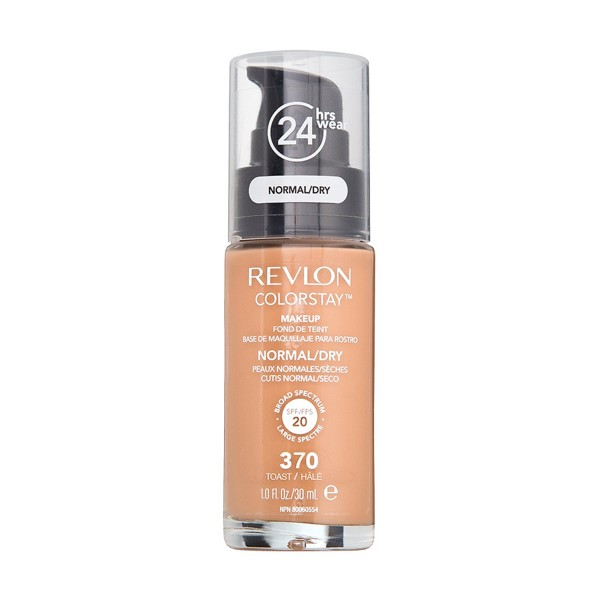 Revlon colorstay base liquida piel normal a seca 370 toast 35.94gr