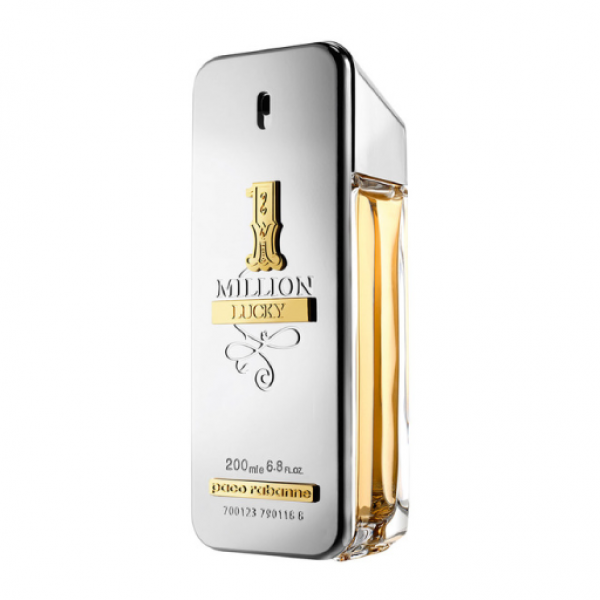 Paco rabanne 1 million lucky eau de toilette 200ml vaporizador