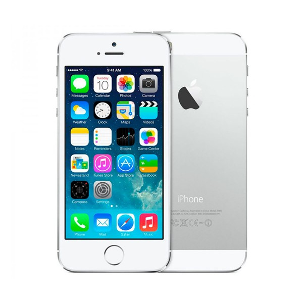 Apple iphone 5s 16gb plata reacondicionado cpo móvil 4g 4'' retina ips/2core/16gb/1gb ram/8mp/1.2mp