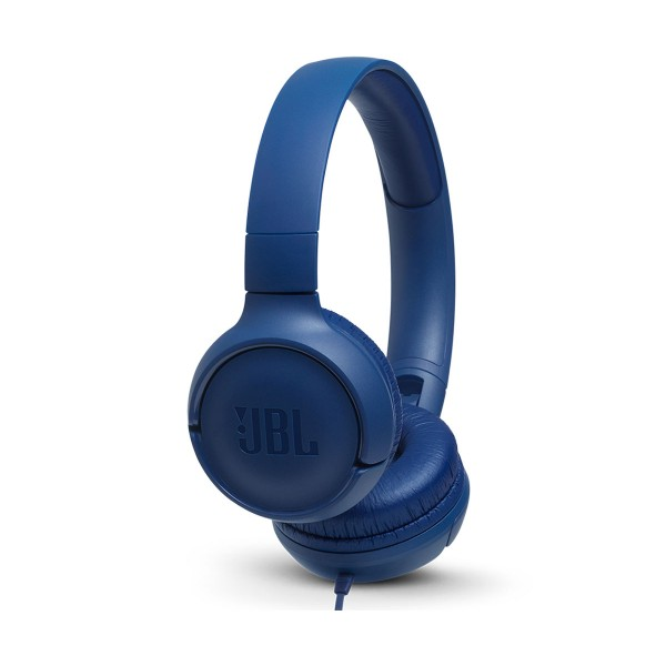 Jbl tune 500 azul auriculares pure bass cable plano sin enredos