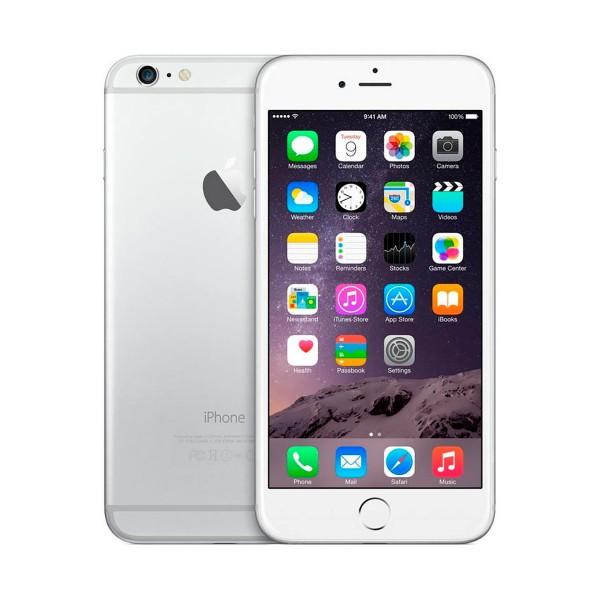 Apple iphone 6 plus 128gb plata reacondicionado cpo móvil 4g 5.5'' retina fhd/2core/64gb/1gb ram/8mp/1.2mp