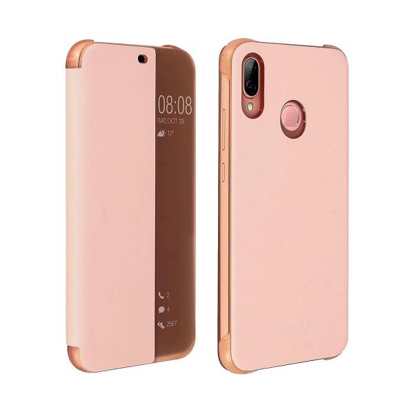 Huawei funda con tapa flipcover rosa huawei p20 lite