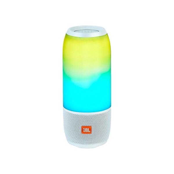 Jbl pulse 3 blanco altavoz portátil 20w bluetooth resistente al agua luces personalizables 360º