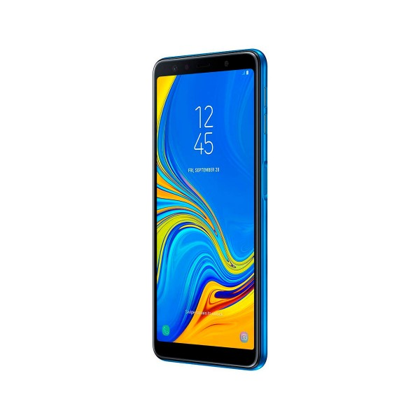 Samsung galaxy a7 (2018) azul móvil 4g dual sim 6.0'' super amoled fhd+/8core/64gb/4gb ram/24mp+5mp+8mp/24mp