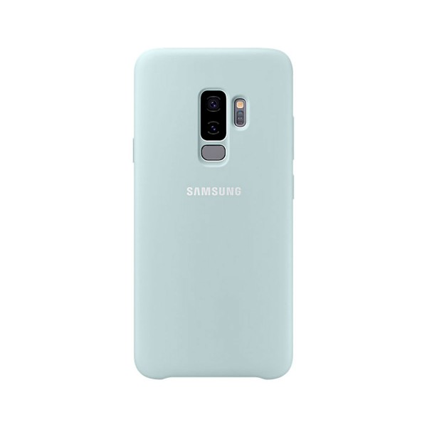 Samsung silicone cover azul galaxy s9+ carcasa trasera