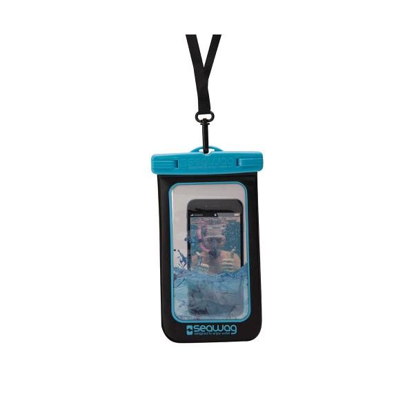 Seawag p171020 negro/azul funda acuática ipx8 sumergible 25m para smartphone