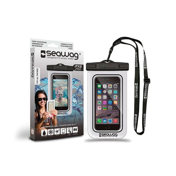 Seawag p171040 blanco/negro funda acuática ipx8 sumergible 25m para smartphone