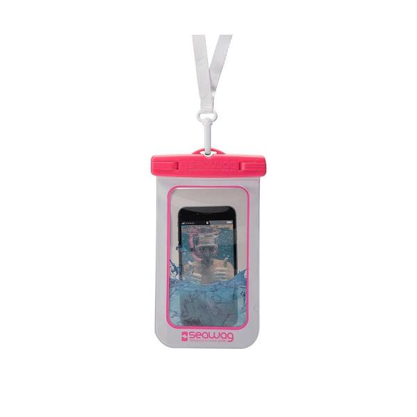 Seawag p171050 blanco/rosa funda acuática ipx8 sumergible 25m para smartphone