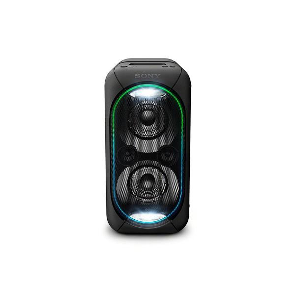 Sony gtk-xb60b negro sistema de audio en casa portátil de gran potencia con luces led, bluetooth y nfc