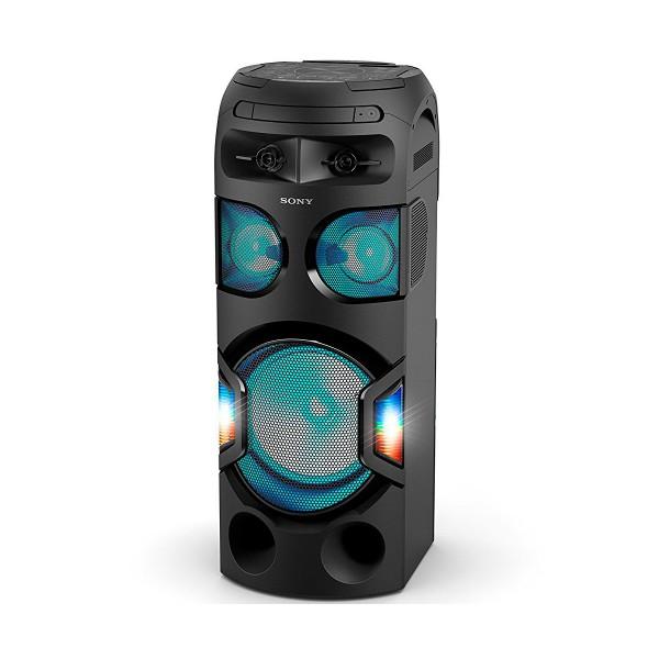Sony mhc-v71d sistema de audio de alta potencia nfc bluetooth control de gestos luces de fiesta 360º función karaoke juego taiko