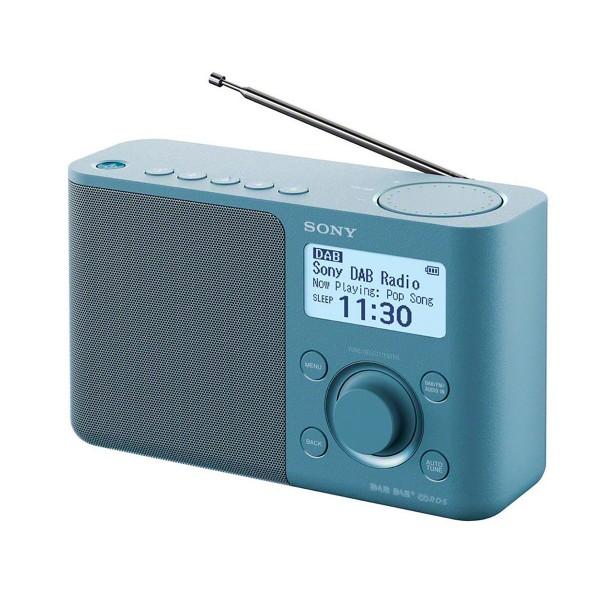 Sony xdr-s61d azul radio dab/dab+ portátil con pantalla lcd presintonías directas temporizador de apagado y despertador