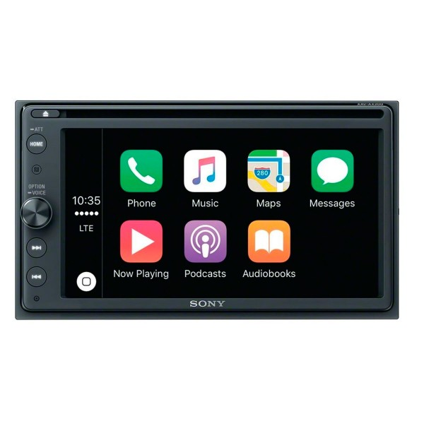 Sonyx xav-ax205db receptor de dvd radio dab con pantalla de 6.4'' para el coche con bluetooth apple carplay y android auto