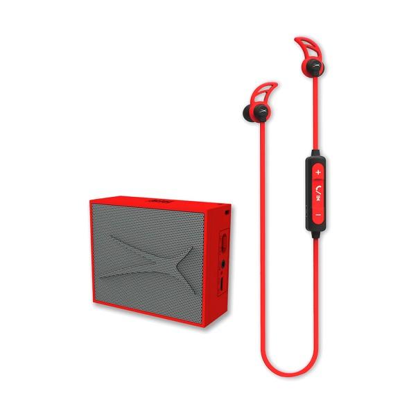 Altec lansing urban sound pack rojo auriculares snake boton y altavoz pocket inalámbrico bluetooth
