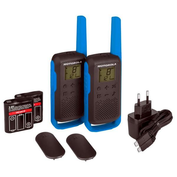 Motorola talkabout t62 azul walkie talkies 8km 16 canales pantalla lcd
