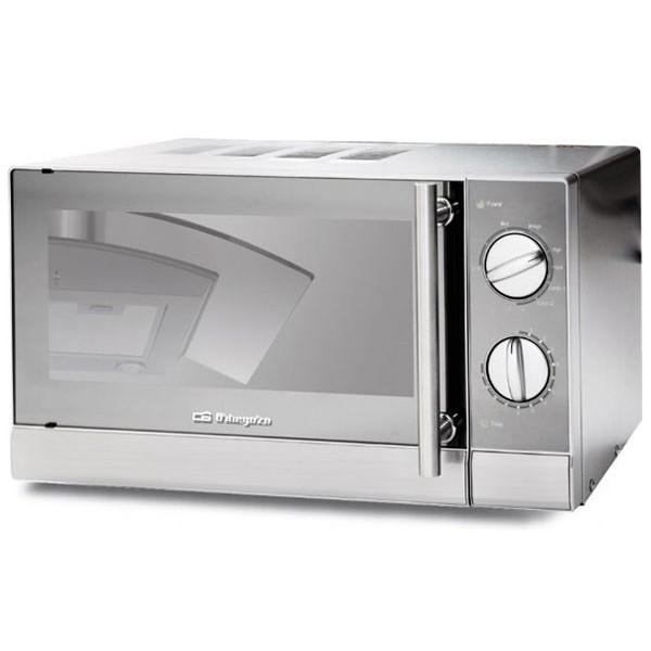 Orbegozo mig 1740 acero inoxidable microondas con grill 700w 17l capacidad 9 niveles de potencia