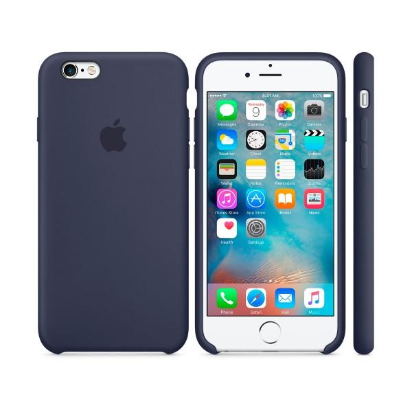 Apple mky22zm/a azul medianoche carcasa de silicona iphone 6s/6